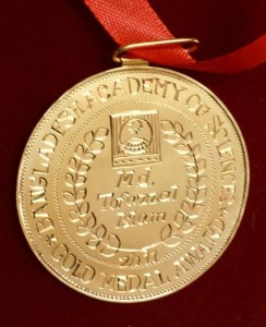 Gold medal of Md Tofazzal Islam