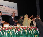 Prof TI awarded with Gold Medal by PM of BD (2)