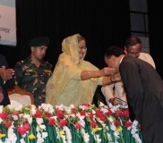Prof TI awarded with Gold Medal by PM of BD (3)